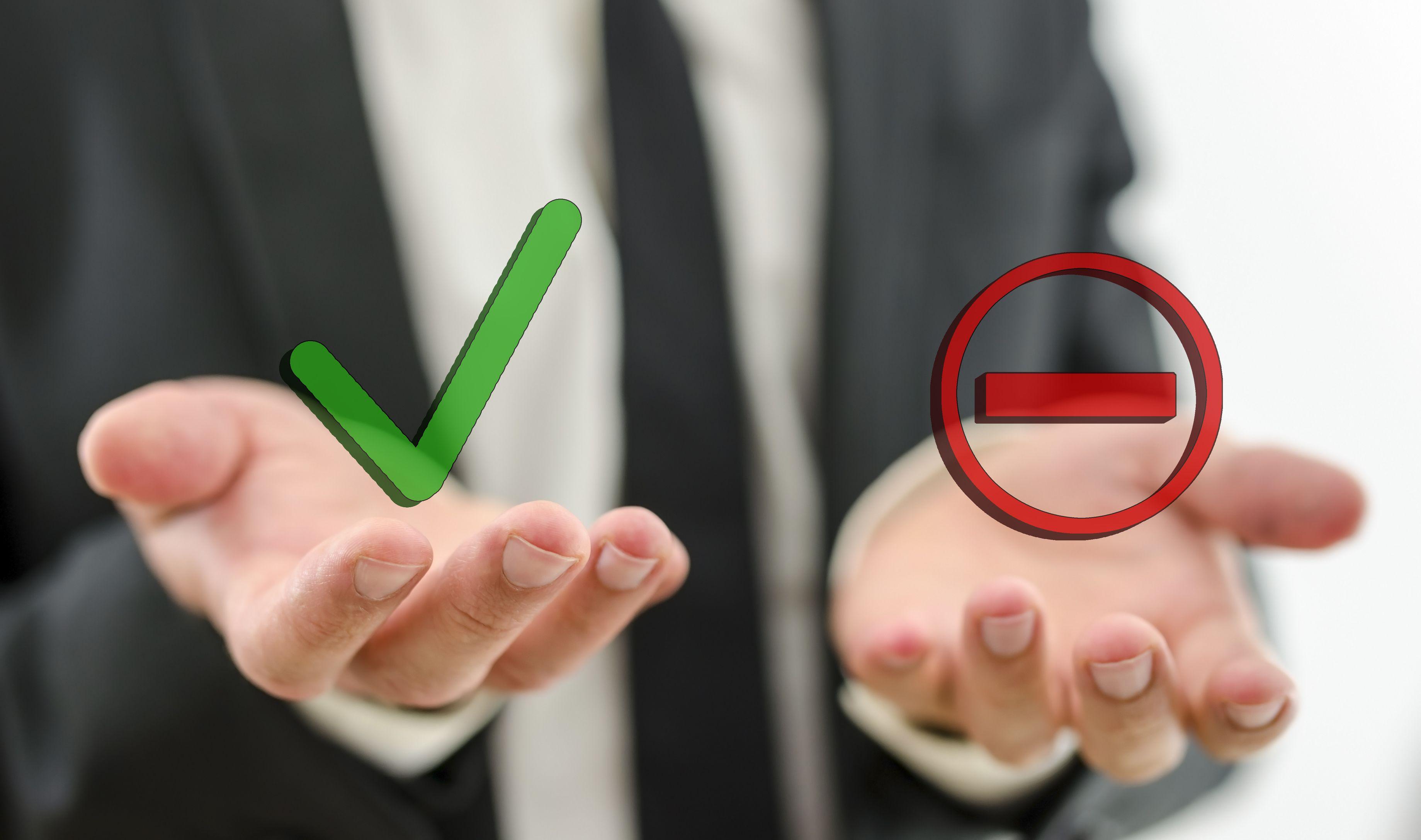 Um die richtige Entscheidungen zu treffen, müssen alle Optionen abgewogen werden.